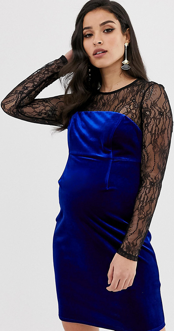 Sukienka Asos z okrągłym dekoltem dopasowana