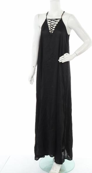 Sukienka Avant Premiere bez rękawów z dekoltem w kształcie litery v maxi