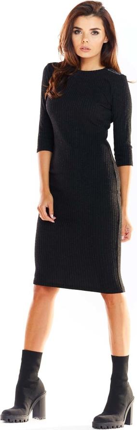 Sukienka Awama midi ołówkowa z okrągłym dekoltem