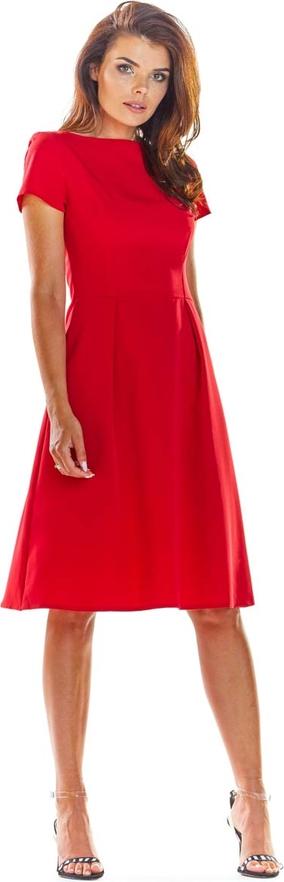 Sukienka Awama midi z krótkim rękawem