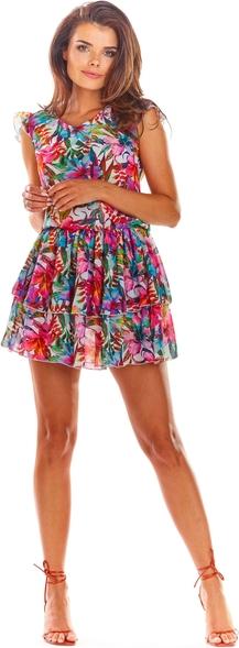 Sukienka Awama mini bez rękawów