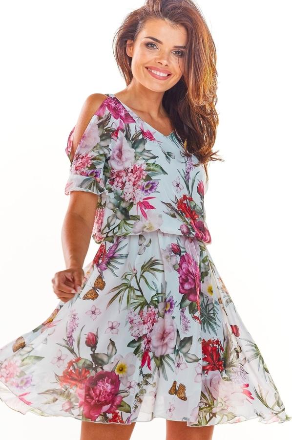 Sukienka Awama rozkloszowana mini w stylu casual