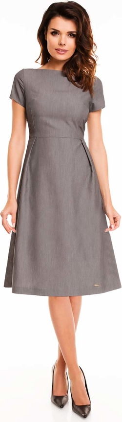 Sukienka Awama z okrągłym dekoltem midi
