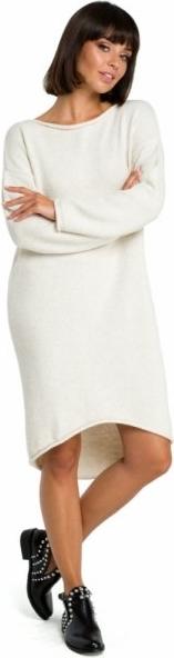 Sukienka Be Knit w stylu casual z dekoltem w łódkę z długim rękawem
