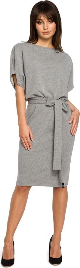 Sukienka Be z krótkim rękawem w stylu casual midi