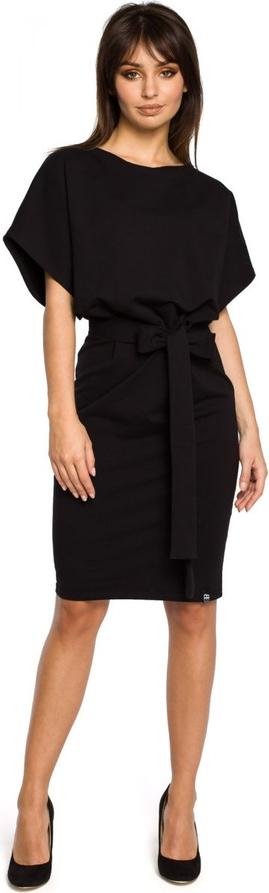 Sukienka Be z krótkim rękawem z okrągłym dekoltem ołówkowa