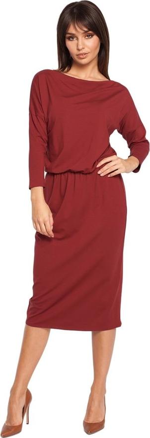 Sukienka Be z okrągłym dekoltem midi
