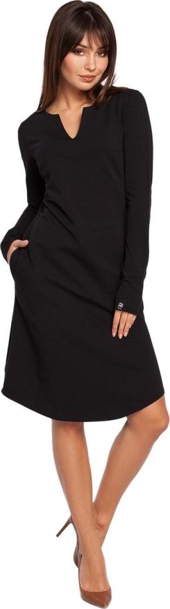Sukienka BeWear z długim rękawem midi