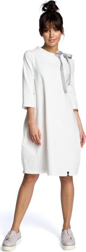 Sukienka BeWear z okrągłym dekoltem oversize midi