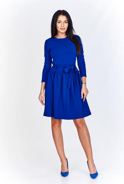Sukienka Bien Fashion z okrągłym dekoltem