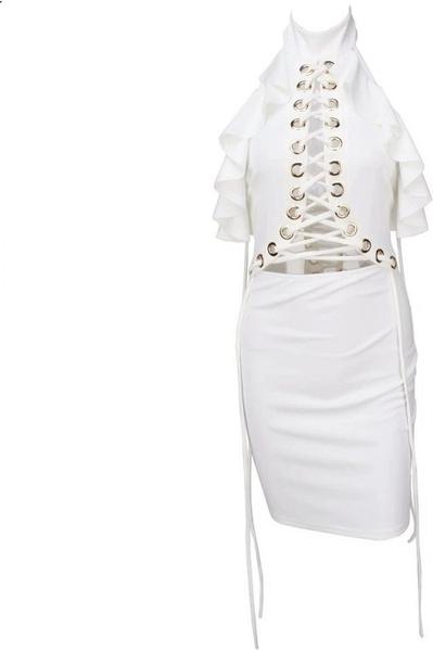 Sukienka Billion Ladies mini bez rękawów z dekoltem halter