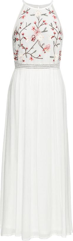 Sukienka bonprix BODYFLIRT bez rękawów z okrągłym dekoltem
