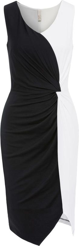 Sukienka bonprix BODYFLIRT boutique midi z okrągłym dekoltem na co dzień