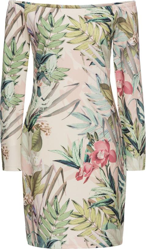 Sukienka bonprix BODYFLIRT boutique mini z długim rękawem
