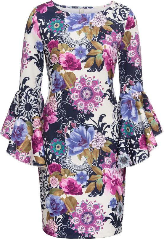 Sukienka bonprix bodyflirt boutique na co dzień z długim rękawem