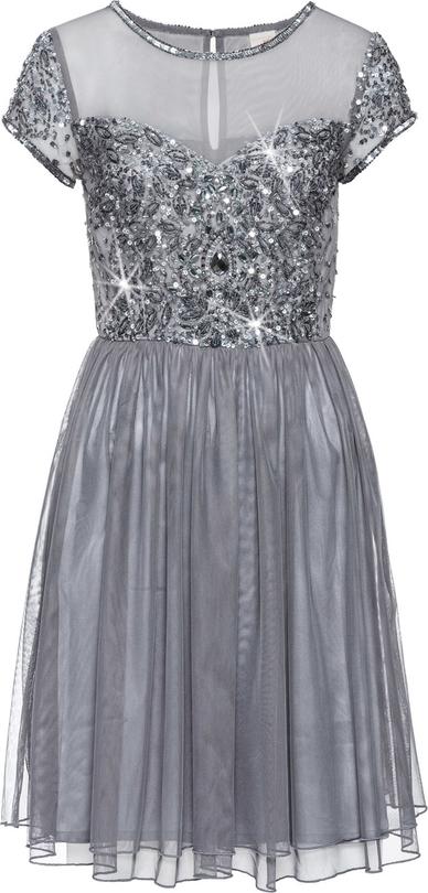 Sukienka bonprix bodyflirt boutique z aplikacją