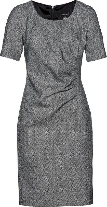 Sukienka bonprix BODYFLIRT midi w geometryczne wzory z krótkim rękawem