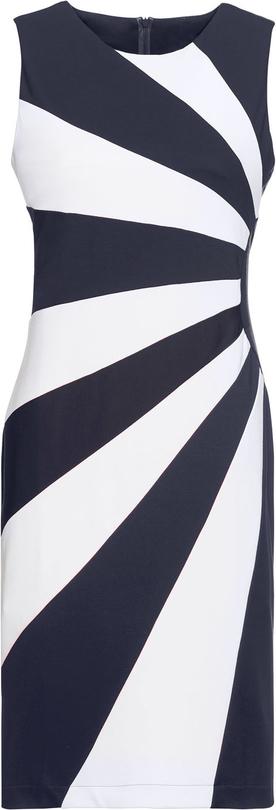 Sukienka bonprix BODYFLIRT mini bez rękawów z okrągłym dekoltem