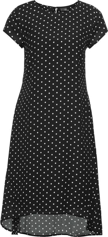 Sukienka bonprix bodyflirt w grochy w stylu retro z krótkim rękawem