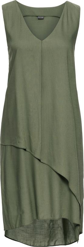 Sukienka bonprix bodyflirt w militarnym stylu na co dzień asymetryczna