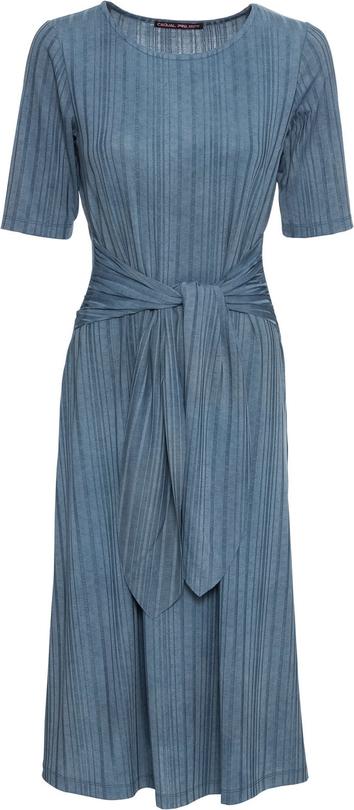 Sukienka bonprix BODYFLIRT w stylu casual z krótkim rękawem z okrągłym dekoltem