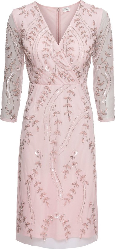 Sukienka bonprix BODYFLIRT w stylu glamour kopertowa z długim rękawem