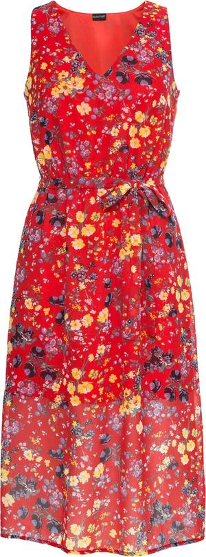 Sukienka bonprix BODYFLIRT z dekoltem w kształcie litery v maxi