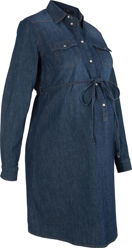 Sukienka bonprix bpc bonprix collection z długim rękawem z bawełny