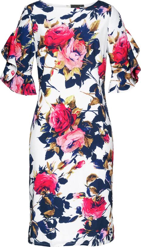 Sukienka bonprix bpc selection midi w kwiaty