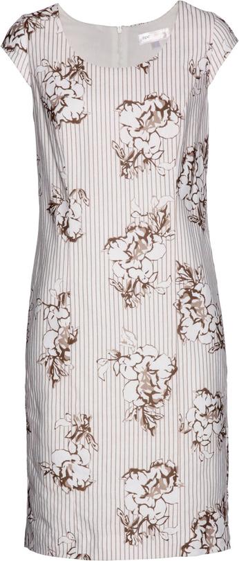 Sukienka bonprix bpc selection w stylu casual z lnu bez rękawów