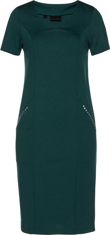 Sukienka bonprix bpc selection z krótkim rękawem z okrągłym dekoltem ołówkowa