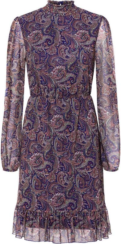 Sukienka bonprix mini z długim rękawem