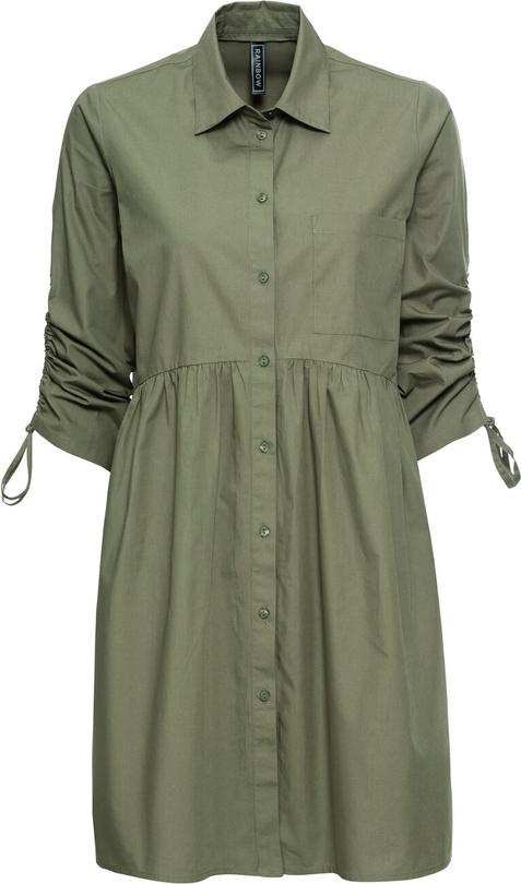 Sukienka bonprix RAINBOW midi w stylu casual z długim rękawem
