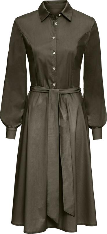 Sukienka bonprix RAINBOW z długim rękawem w stylu casual z kołnierzykiem