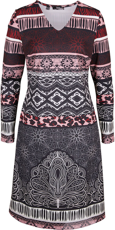 Sukienka bonprix w stylu casual mini z dżerseju
