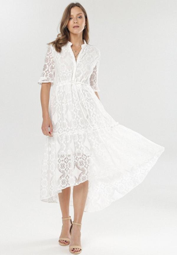 Sukienka born2be asymetryczna z dekoltem w kształcie litery v
