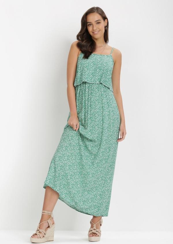 Sukienka born2be bez rękawów maxi z dekoltem w kształcie litery v