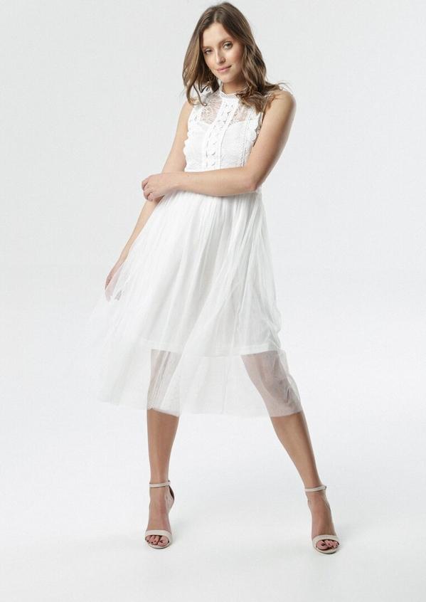 Sukienka born2be bez rękawów midi