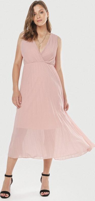 Sukienka born2be bez rękawów z dekoltem w kształcie litery v