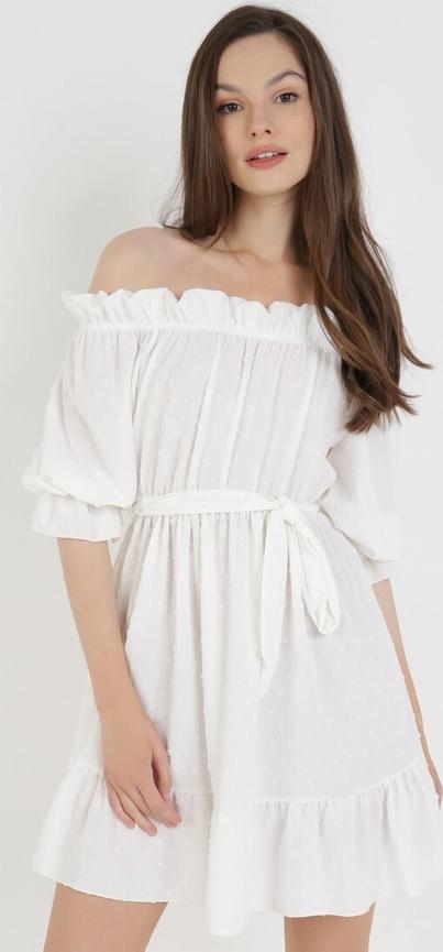 Sukienka born2be hiszpanka z długim rękawem
