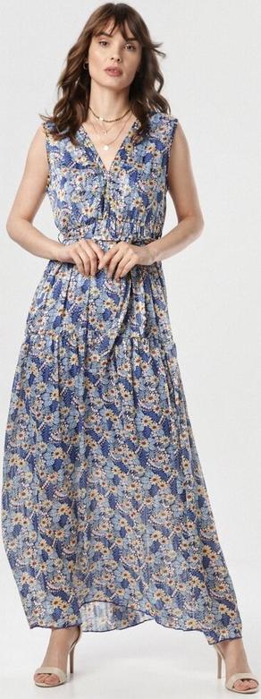 Sukienka born2be maxi bez rękawów w stylu boho