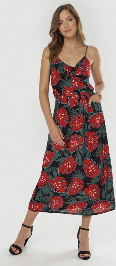 Sukienka born2be maxi w stylu casual na ramiączkach