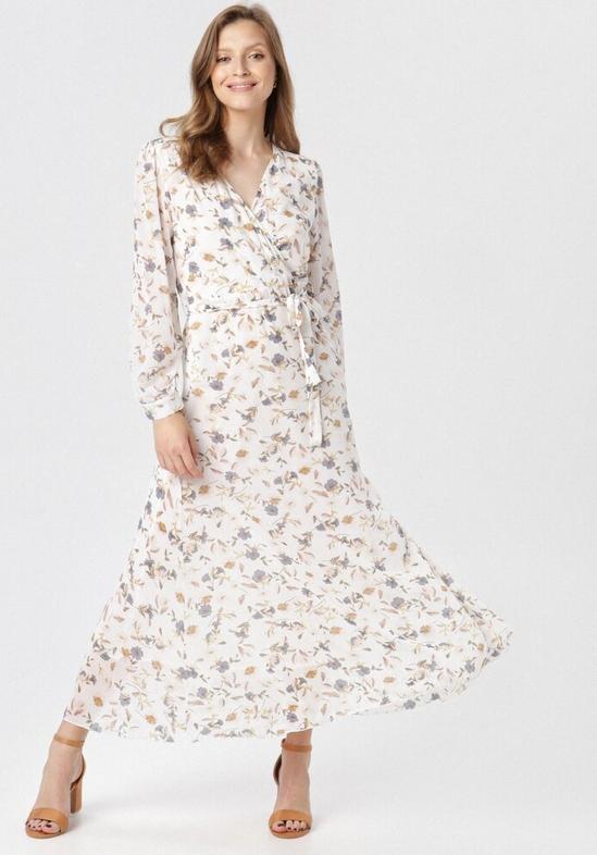 Sukienka born2be maxi z dekoltem w kształcie litery v