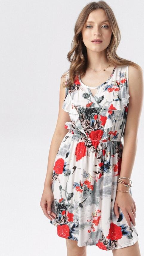 Sukienka born2be mini bez rękawów z okrągłym dekoltem