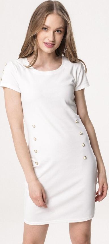 Sukienka born2be mini dopasowana z krótkim rękawem