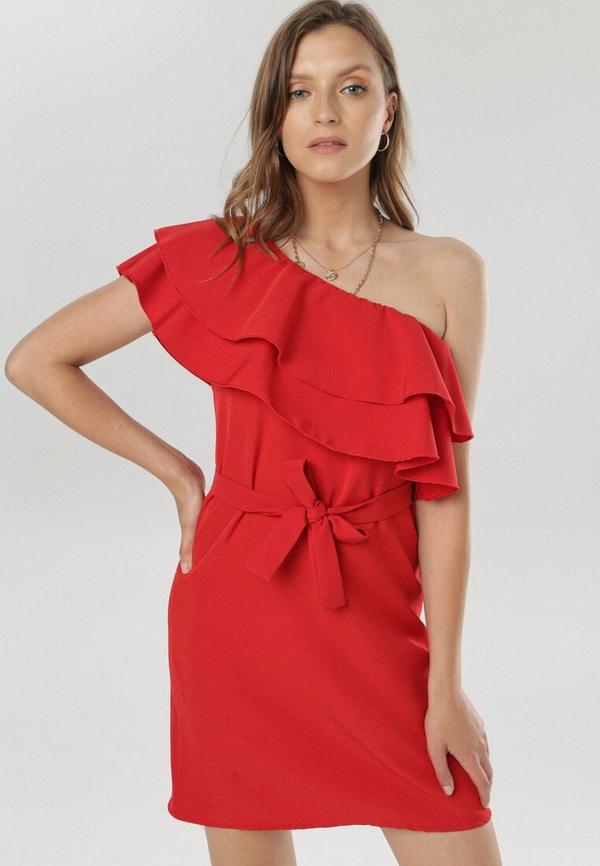 Sukienka born2be mini trapezowa w stylu casual