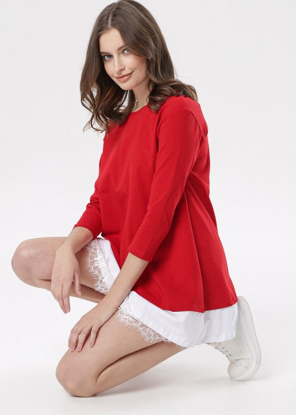 Sukienka born2be mini w stylu casual z długim rękawem