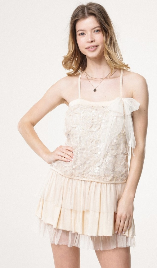 Sukienka born2be mini w stylu glamour