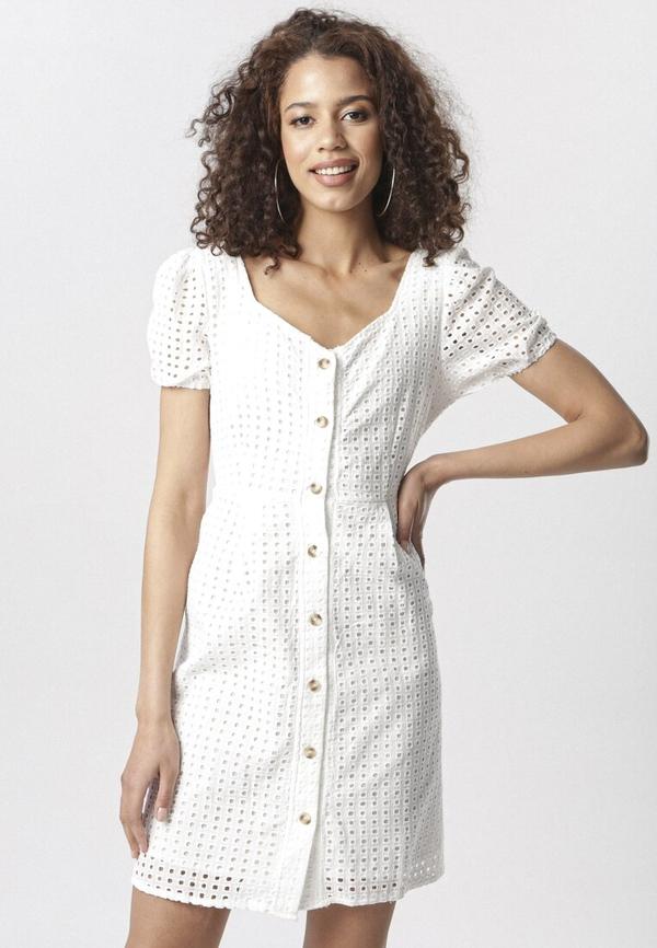Sukienka born2be mini z dekoltem w kształcie litery v w stylu casual