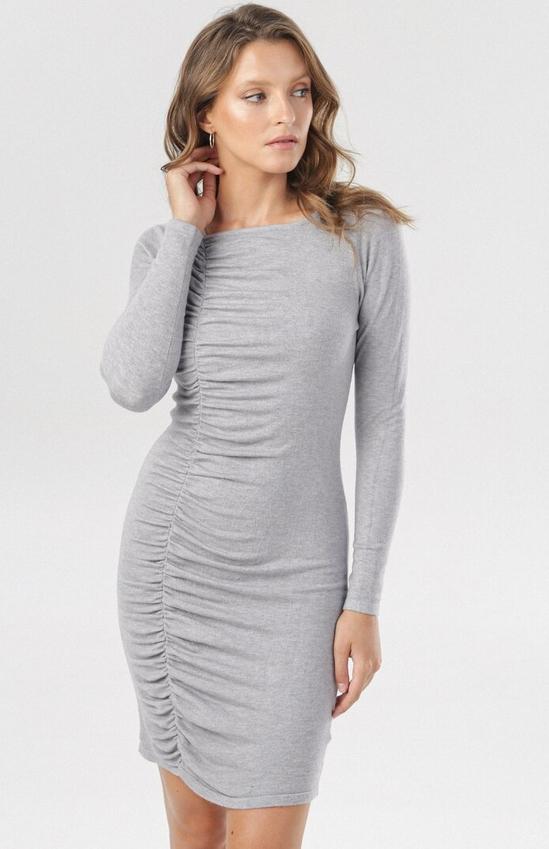 Sukienka born2be mini z długim rękawem dopasowana